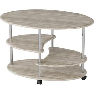Стол журнальный Калифорния мебель Эллипс СЖ-01 дуб журнальный столик талант стол журнальный эллипс