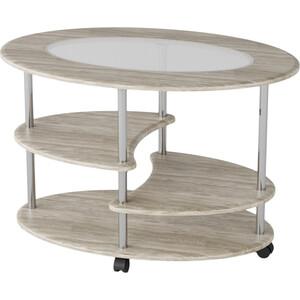 Стол журнальный Калифорния мебель Эллипс со стеклом СЖС-01 дуб стол журнальный калифорния мебель бруклин венге