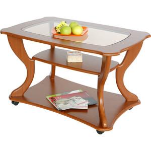 Стол журнальный Калифорния мебель Маэстро СЖС-02 со стеклом вишня стол журнальный калифорния мебель бруклин венге