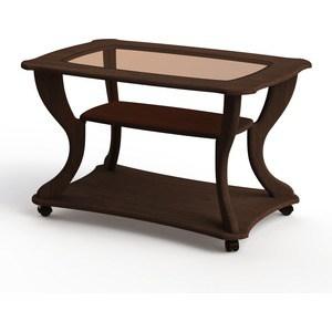 Стол журнальный Калифорния мебель Маэстро СЖС-02 со стеклом орех