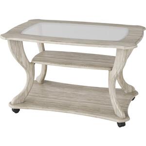 Стол журнальный Калифорния мебель Маэстро СЖС-02 со стеклом дуб стол журнальный калифорния мебель бруклин венге