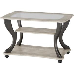 Стол журнальный Калифорния мебель Маэстро СЖС-02 со стеклом дуб/венге стол журнальный калифорния мебель бруклин венге