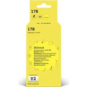 Картридж T2 CB320HE №178 (IC-H320) hp cb320he 178 yellow
