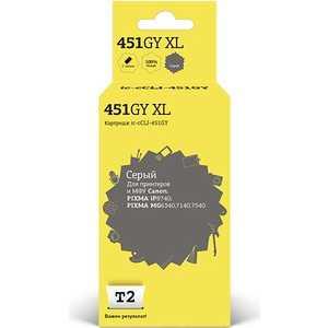Картридж T2 CLI-451GY XL (IC-CCLI-451GY) картридж t2 ic cli 426c cyan с чипом
