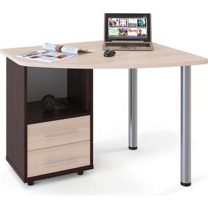 Стол компьютерный СОКОЛ КСТ-102 венге/дуб беленый левый