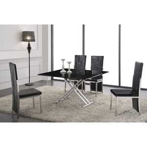 Обеденный стол ESF В2166 AG черный лак