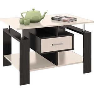 Стол журнальный ТриЯ Тип 3 венге цаво/дуб молочный стол компьютерный мебель трия профи м венге цаво дуб молочный с рисунком