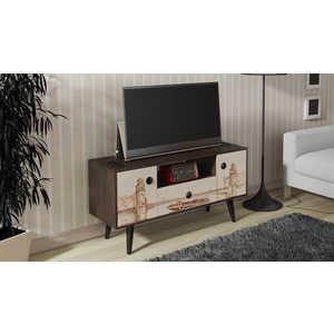 Тумба ТриЯ TV-25 с рисунком венге цаво/дуб молочный спальный гарнитур трия саванна к1