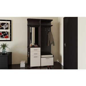 Прихожая ТриЯ Пикассо 3.1 венге цаво/дуб белфорт тумбочка мебель трия прикроватная токио пм 131 03 см дуб белфорт венге цаво