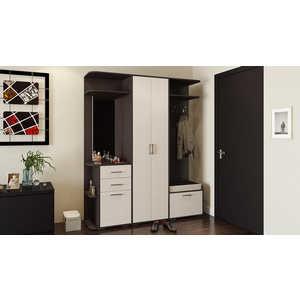 Прихожая ТриЯ Пикассо 3.2 венге цаво/дуб белфорт тумбочка мебель трия прикроватная токио пм 131 03 см дуб белфорт венге цаво