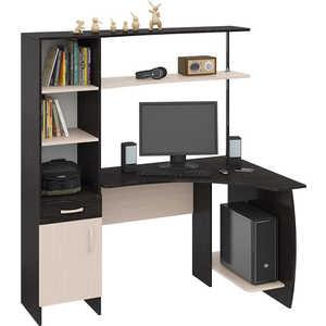 Стол компьютерный ТриЯ Профи (М) венге цаво/дуб молочный стол компьютерный мебель трия профи м венге цаво дуб молочный с рисунком