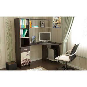 Стол компьютерный ТриЯ Профи (М) с рисунком венге цаво/дуб молочный спальный гарнитур трия саванна к1