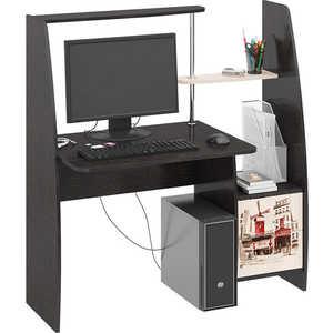 Стол компьютерный ТриЯ Школьник-Стиль (М) с рисунком венге цаво/дуб молочный стол компьютерный мебель трия профи м венге цаво дуб молочный с рисунком