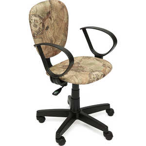 Кресло офисное TetChair СН413 принт Карта на бежевом кресло tetchair step ткань карта на бежевом