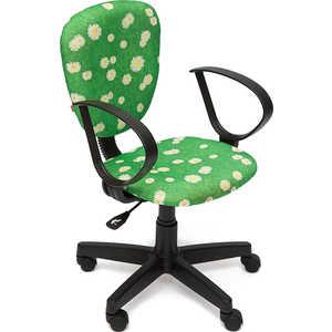 Кресло офисное TetChair СН413 принт Ромашки на зеленом
