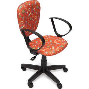 Кресло офисное TetChair СН413 принт Якоря на красном tetchair стул компьютерный step