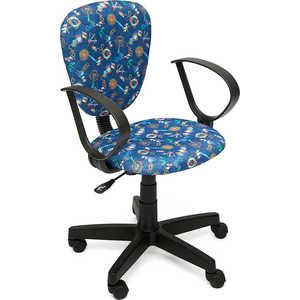 Кресло офисное TetChair СН413 принт Якоря на синем