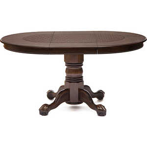Стол круглый раскладной TetChair DNDT-4260-RBC ротанг темно-коричневый стул tetchair ccr r 466apu t ротанг темно коричневый