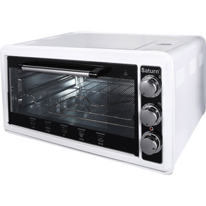 Мини-печь Saturn ST-EC1077 White мини печь saturn st ec1077 red