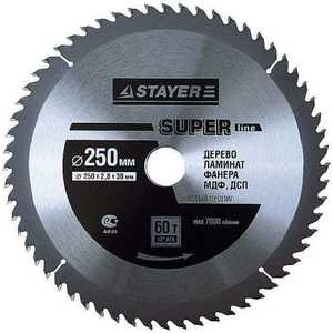 Диск пильный Stayer 250х32мм 60зубьев Super-Line (3682-250-32-60) 60 20 1pc 60 mm x 20 mm disc powerful magnet craft neodymium rare earth permanent strong n52 n52 60 x 20