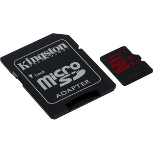 Карта памяти Kingston 32GB SDHC Class 10 UHS-I U3 (SD адаптер) (SDCA3/32GB) карта памяти other samsung evo 10 32 64 sd sdhc oem