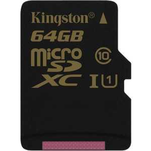Карта памяти Kingston 64GB microSDXC Class 10 UHS-I U1 (SDCA10/64GBSP)