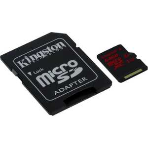 Карта памяти Kingston 64GB microSDXC Class 10 UHS-I U3 (SD адаптер) (SDCA3/64GB) карта памти kingston 64gb microsdxc class 10 uhs i u3 sd адаптер sdca3 64gb