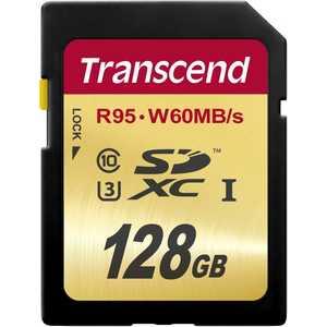 Карта памяти Transcend SD 128GB SDXC Class 10 UHS-I U3 (TS128GSDU3)