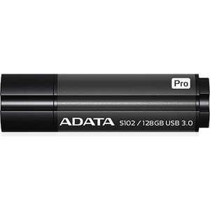 Флеш накопитель A-Data 128GB S102 PRO USB 3.0 Серый алюминий (Read 600X) (AS102P-128G-RGY) цена 2017