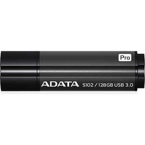 Флеш накопитель A-Data 128GB S102 PRO USB 3.0 Серый алюминий (Read 600X) (AS102P-128G-RGY) usb накопитель corsair 128gb voyager go cmfvg 128gb черный cmfvg 128gb