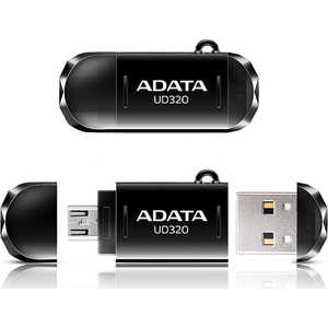 Флеш накопитель A-Data 64GBDashDrive UD320 OTG USB 2.0/MicroUSB Черный (AUD320-64G-RBK) 50pcs micro usb 3 0 male to usb c usb 3 1 type c female extension data cable for macbook tablet 10cm by fedex