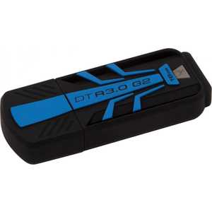 Флеш накопитель Kingston 16GB DataTraveler R3.0 USB 3.0 резиновый Синий/Черный (DTR30G2/16GB)