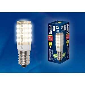 Фотография товара лампа светодиодная для холодильников и швейных машин Uniel LED-Y16-4W/WW/E14/CL PLZ04WH (459412)