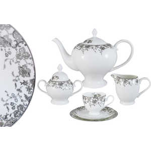 Чайный сервиз Emerald Эстель из 21 предмета на 6 персон (E5-14-601/21-AL) сервиз набор emerald чайный сервиз эстель 21 предмет на 6 персон e5 14 601 21 al