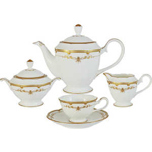 Чайный сервиз Narumi Ожидание из 17 предметов на 6 персон (N51651-52455AL) narumi чашка с блюдцем ожидание