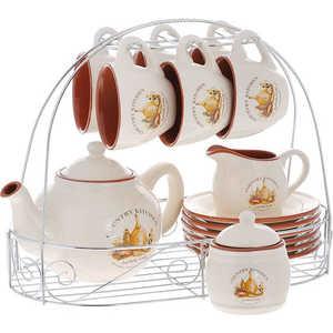 Чайный сервиз Terracotta ''Сардиния'' из 15 предметов на 6 персон (TLYHD0014-BT-AL)