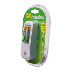 Зарядное устройство и аккумулятор GP PowerBank PB410GS65 + 650mAh AAA 2шт. soshine rtu pre charged 1 2v 900mah rechargeable aaa ni mh batteries white 4 pcs