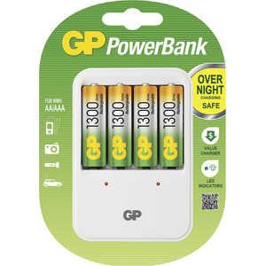 Зарядное устройство и аккумулятор GP PowerBank PB420GS130 + 1300mAh AA 4шт.