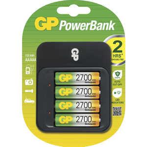 Фотография товара зарядное устройство и аккумулятор GP PowerBank PB550GS250 + 2500mAh AA 4шт. (460866)