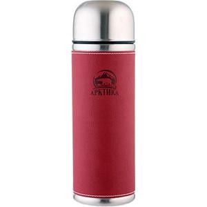 Термос с кожаной вставкой 0.5 л. Арктика красный 108-500