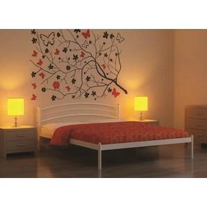 Кровать Стиллмет Эко Плюс красный лак 90х200