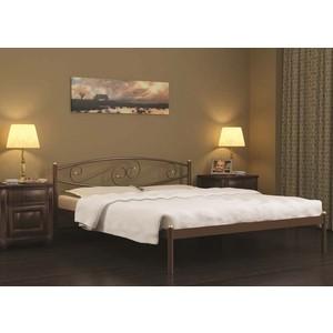 Кровать Стиллмет Волна коричневый бархат 140х200