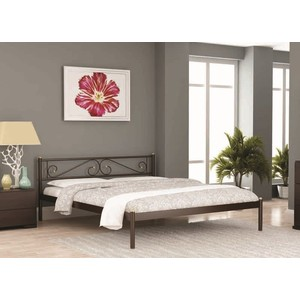 Кровать Стиллмет Шарм коричневый бархат 180х200