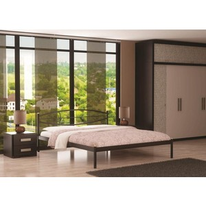 Кровать Стиллмет Аура коричневый бархат 160х200