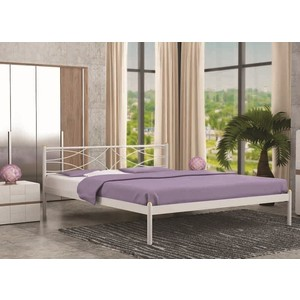 Кровать Стиллмет Экзотика коричневый бархат 140х200