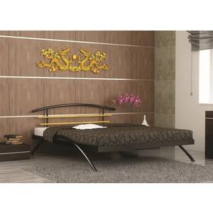 Кровать Стиллмет Сакура коричневый бархат 140х200