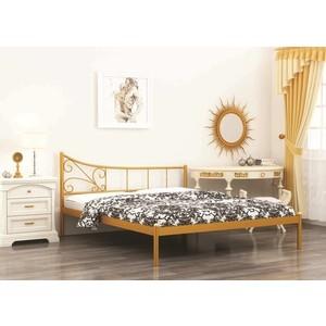 Кровать Стиллмет Лилия коричневый бархат 140х200