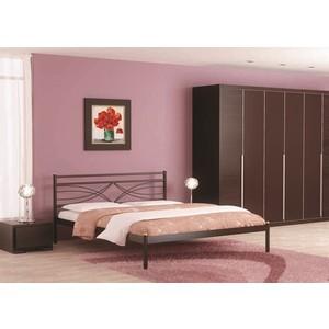 Кровать Стиллмет Мираж коричневый бархат 140х200