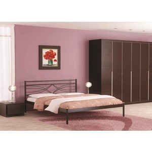 Кровать Стиллмет Мираж красный лак 140х200