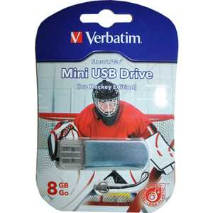 Флеш накопитель Verbatim 8Gb Mini Graffiti Edition Hockey (049878) флеш накопитель verbatim 8gb mini tattoo edition usb 2 0 дракон 49884